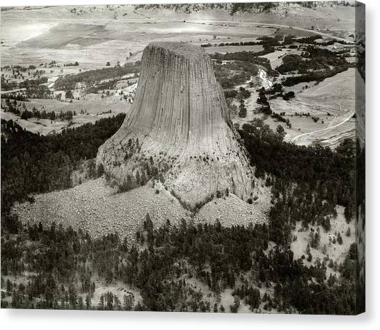 United States Army Air Corps Canvas Print - Devils Tower by American Philosophical Society