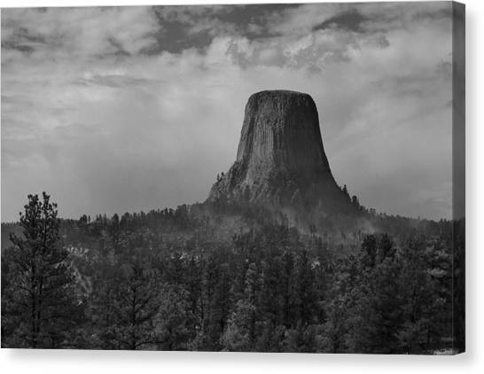 Devil's Tower Burns Canvas Print