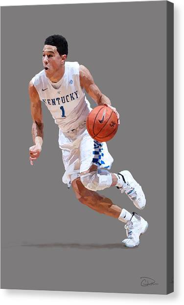 University Of Kentucky Canvas Print - Devin Booker by Charley Pallos