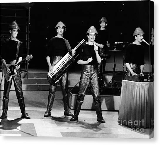 Chris Walter Canvas Print - Devo 1980 by Chris Walter