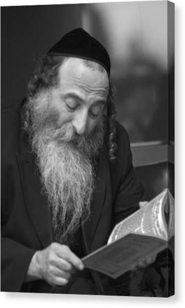 Torah Canvas Print - Devout Jew At Prayer by Don Wolf