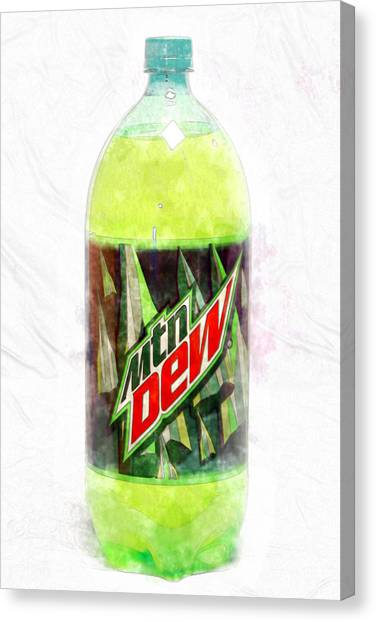 Mountain Dew Canvas Print - Dew by David Stasiak