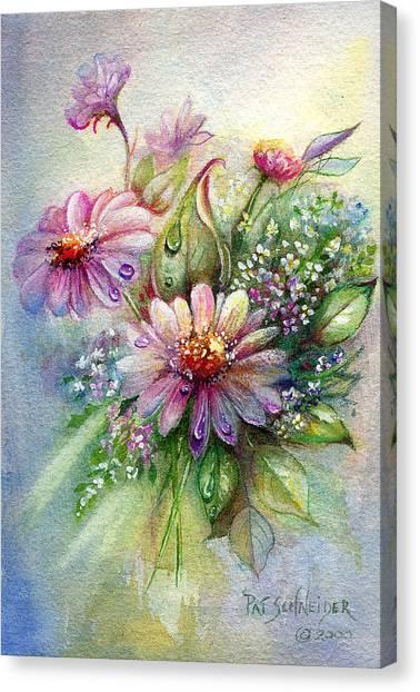 Dewdrop Daisies Canvas Print