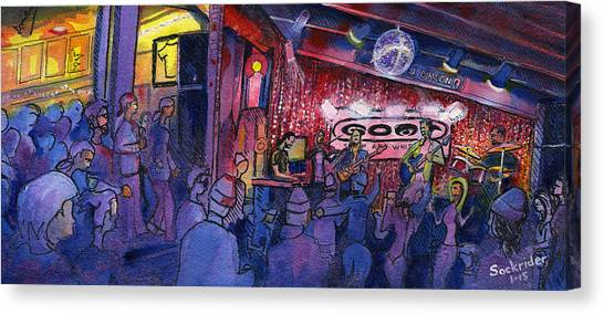 Dewey Paul Band At The Goat Canvas Print