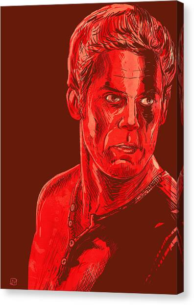 Dexter Canvas Print by Giuseppe Cristiano
