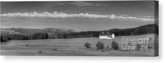 Oneida Canvas Print - Dh Day Farm In Black And White by Twenty Two North Photography
