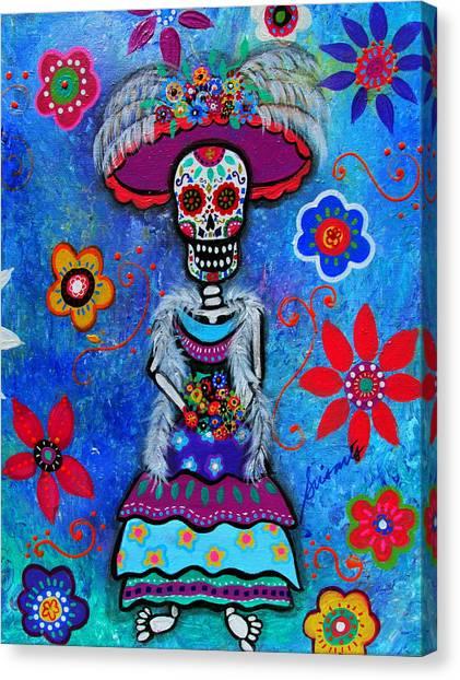 Dia De Los Muertos Catrina Canvas Print