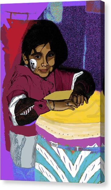 Dia De Los Muertos Child Canvas Print