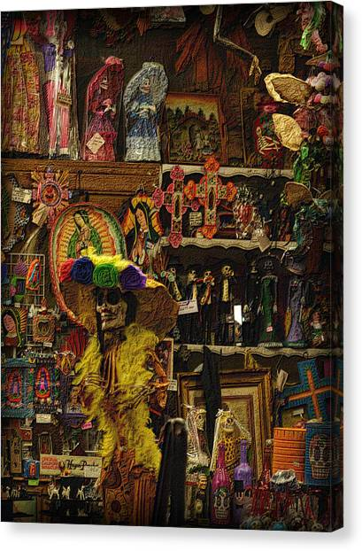Dia De Muertos Shop Canvas Print