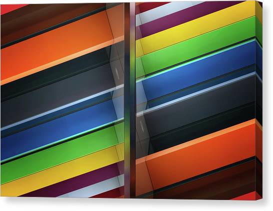 Rainbow Canvas Print - Diagonal by Henk Van Maastricht