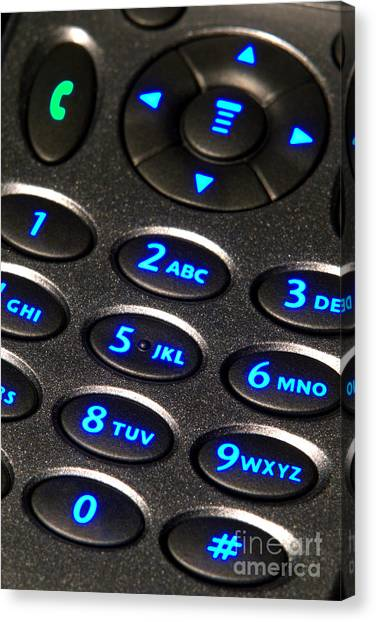 Keypad Canvas Print - Dial Up by Olivier Le Queinec
