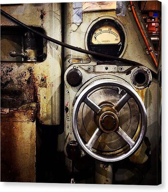 Machinery Canvas Print - Dialed In by Caleb Daugherty