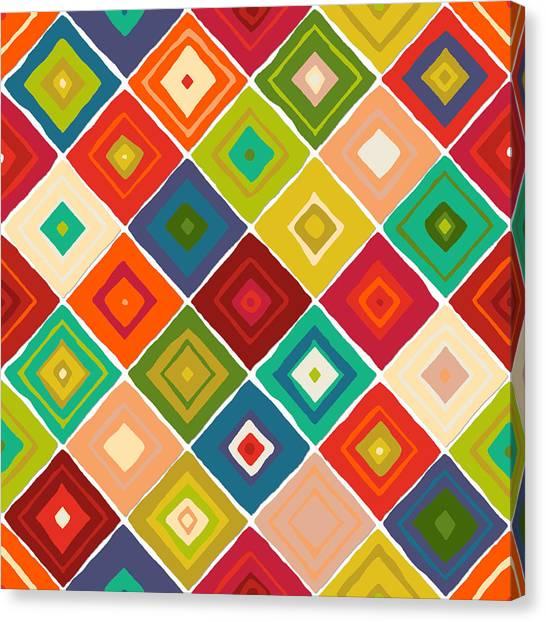 Pattern Canvas Print - Diamante by Sharon Turner