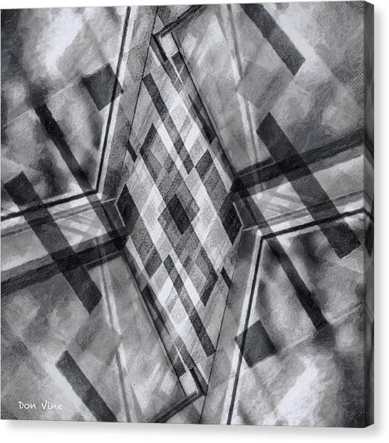Diamond Cross  Bw Canvas Print