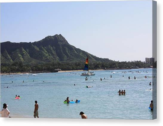 Diamond Head In The Afternoon Canvas Print by Adam Levine