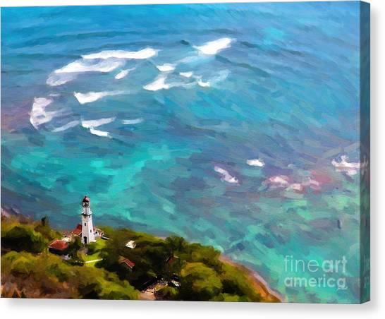 Diamond Head Lighthouse View Canvas Print