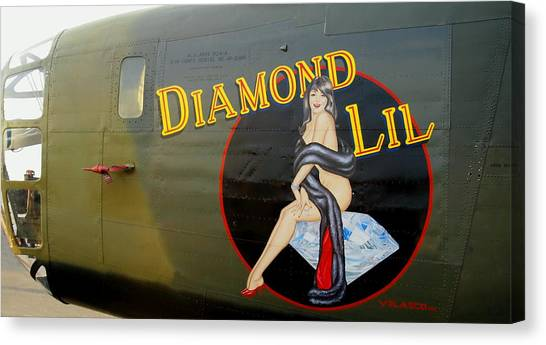 Diamond Lil B-24 Bomber Canvas Print