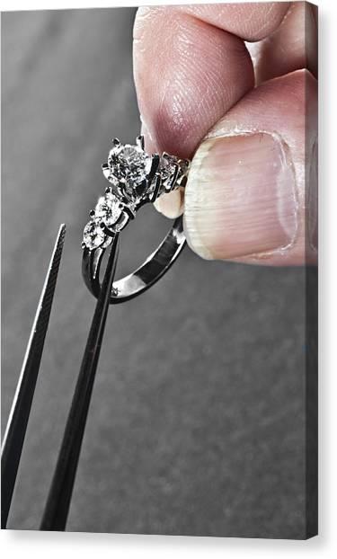 Diamond Ring Remount Canvas Print