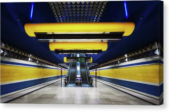 Subway Canvas Print - Diamond Underground by Iv?n Ferrero