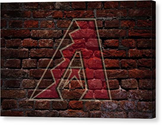 Diamondbacks Canvas Print - Diamondbacks Baseball Graffiti On Brick  by Movie Poster Prints