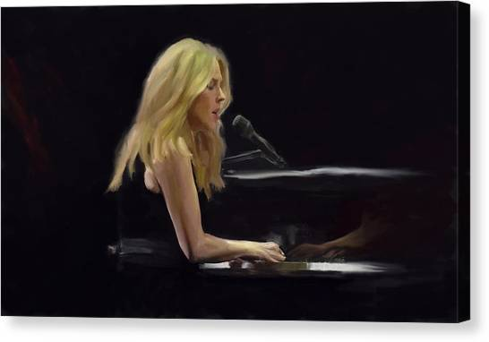 Diana Krall Canvas Print by G Cannon