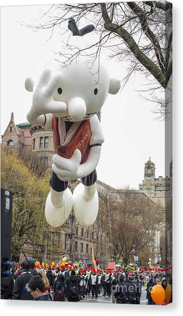 Macys Parade Canvas Print - Diary Of A Wimpy Kid Balloon By Amulet Books By Abrams Books At Macy's Thanksgiving Day Parade by David Oppenheimer