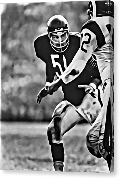 Dick Butkus Canvas Print - Dick Butkus by Florian Rodarte