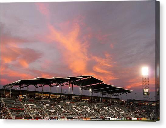 Colorado Rapids Canvas Print - Dick Sporting Goods Park by Casey Barnett