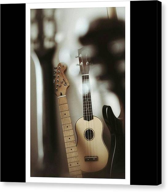 Ukuleles Canvas Print - Did A Trial #album #cover #shoot by Anderson Kalang