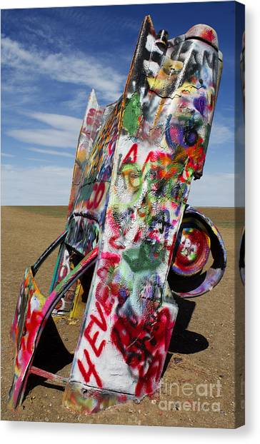 Installation Art Canvas Print - Did Not Notice The Stop Sign by Elena Nosyreva