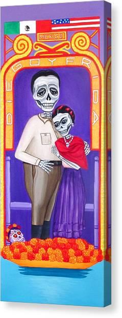 Diego Y Frida Xochimilco Canvas Print