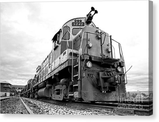 Freight Trains Canvas Print - Diesel Electric Locomotive by Olivier Le Queinec
