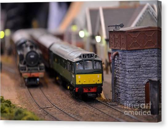 Diesel Electric Model Train Railway Engine Canvas Print
