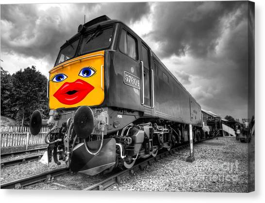 Thomas The Train Canvas Print - Diesel Lips  by Rob Hawkins