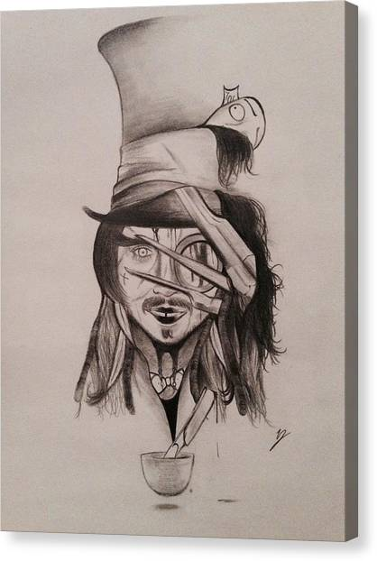 Johnny Depp Canvas Print - Different Depps by Taylor Bou