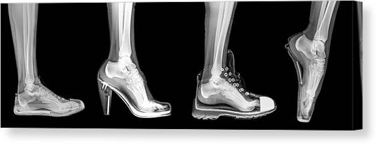 Ankles Canvas Print - Different Shoes X-ray by Photostock-israel