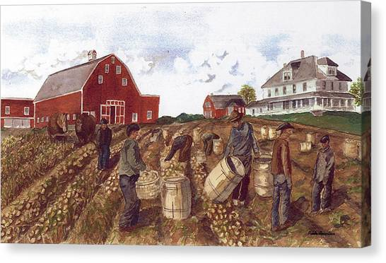 Digging In The '40's Canvas Print