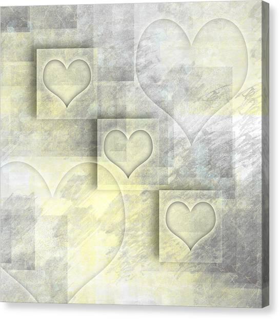Compose Canvas Print - Digital-art Hearts II by Melanie Viola