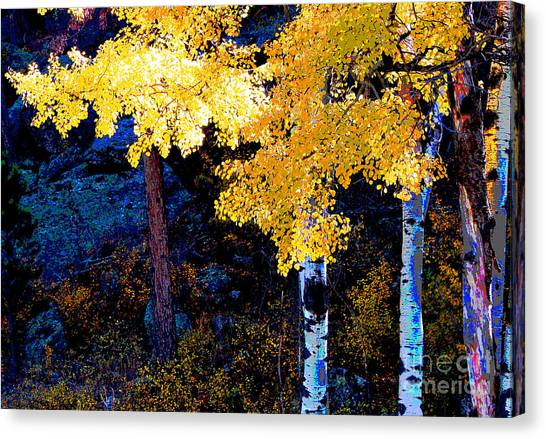 Digital Aspen Canvas Print