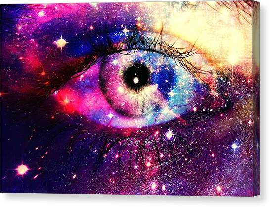 Digital Composite Image Of Human Eye Canvas Print by Brielle Mcconnell / Eyeem