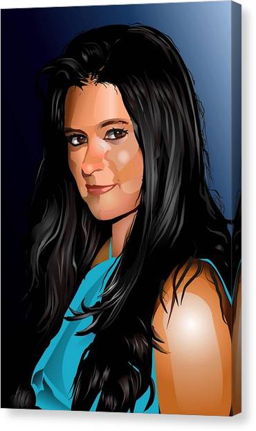 Danica Patrick Canvas Print - Digital Danica  by P Dwain Morris
