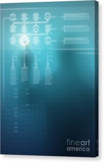 Future Tech Canvas Print - Digital Display  by Carlos Caetano