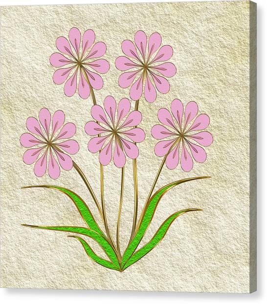 Digital Flowers #6 Canvas Print by Pat Follett