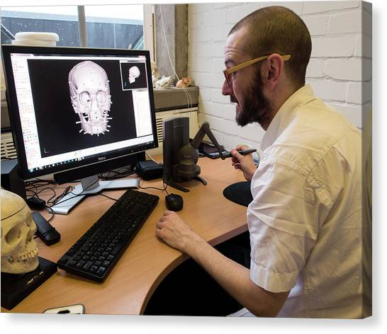 Computer Science Canvas Print - Digital Forensic Facial Reconstruction by Louise Murray