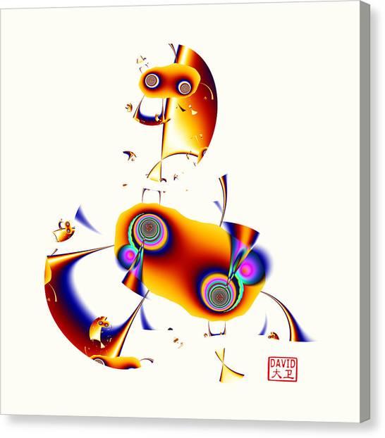 Digital Picasso - Hobby Horse Canvas Print