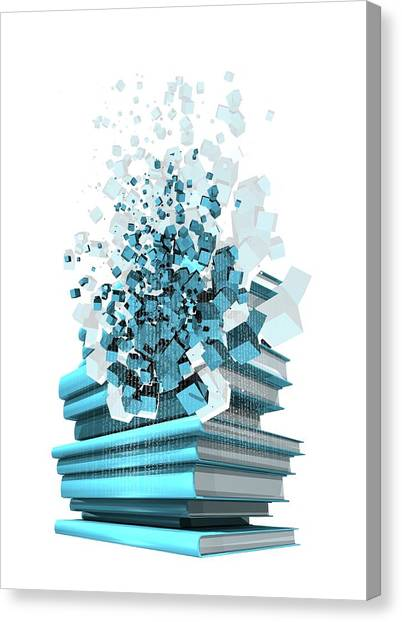 Digital Publishing, Conceptual Artwork Canvas Print by Victor Habbick Visions