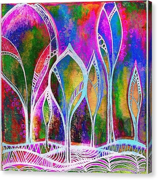 Robins Canvas Print - #digitalart #alteredart #mixedmedia by Robin Mead