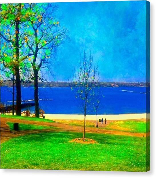 Landscape Canvas Print - #digitalart #landscape #beach #park by Robin Mead