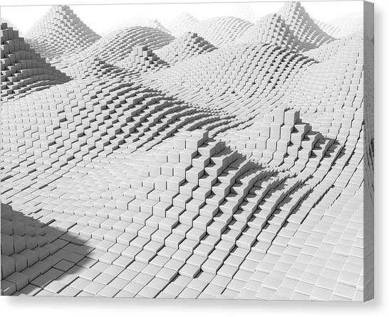 Pixelated Canvas Print - Digitised Landscape by Animated Healthcare Ltd/science Photo Library