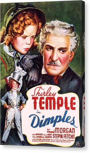 Shirley Temple Canvas Print - Dimples by Movie Poster Prints